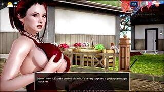 Waitress shows her big tits in restaurat