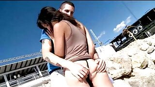 FRENCH AMATEUR Loves to fuck on the Beach!!! - (Episode #03)