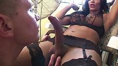 Beautiful Big Cock Shemale In Nylon Fuck Guy