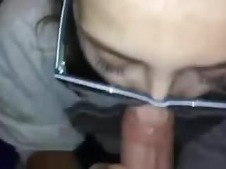 College jocks give blowjobs Girl with glasses gives blowjob but wasnt ready for cim