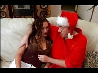 Santa fucks girl in the ass Old santa fucks young reindeer