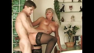 The two young lovers of Russian lustful mommy Elena