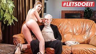 XXX SHADES - Latvian Waitress Casey A. Rides Grandpa At Work