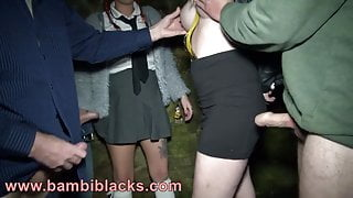 A couple of dirty northern chav slags go dogging