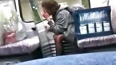 caught crazy teen masturbate on train