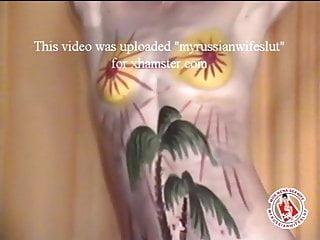 Close up vulva art Body-art