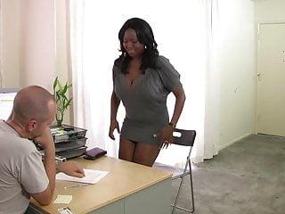 Ebony pussy and cock Curvy ebony slut slides on black cock on the sofa