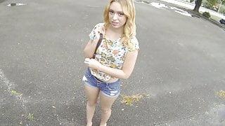 Hot Big Ass Blonde Teen Paid Cash To Fuck Stranger POV