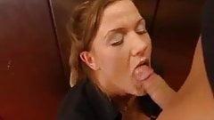 Busty German Lady Fucked in Elevator