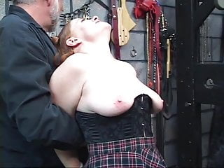 Art glass sex toys - Lovely redhead bdsm girl gets her asshole filled with glass sex toy