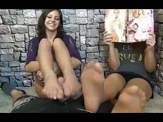 Footjob nylonic - Also the hot girl i love give a nylon footjob, cum on feet
