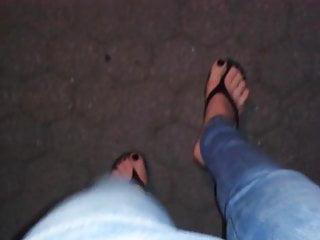 Flip flop foot in sexy Sexy flip flops