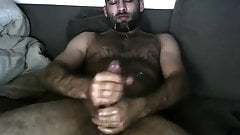 Middle Eastern bear men. Hairy oiled up otter cums on his fa