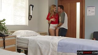 Public hospital fuck with babe getting jizzed
