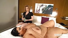 Huge Titty Sofia Rose Cums With Her Cougar Masseuse Sara Jay