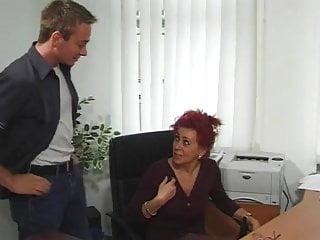 Hd euro mature movies Hot euro mature redhead bangs in office