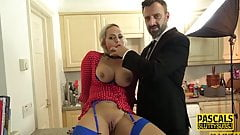 Fetish milf submissive throats and gets wam
