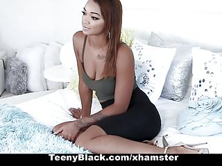 Teenie pleasure Teenyblack - hot ebony teeny fucks big cock