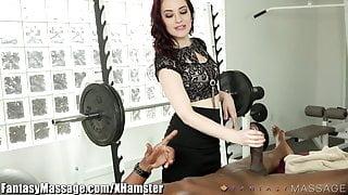 Masseuse Takes Advantage of Clients Big Cock