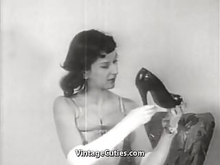 Erotic dance movies - Erotic dance of old-school hotties 1950s vintage