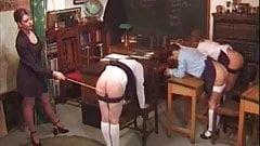 Light spanking in school.