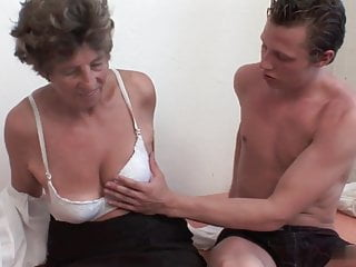 Granny fucked grandson - Granny sara allows her grandson to fuck her in the ass, puss