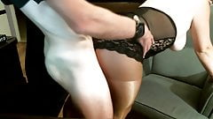 Wife in pantyhose taken from behind
