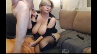 Busty mature wife with boss
