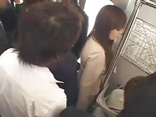 Emmanuelle gangbanged on train - Japanese big tits hitomi tanaka get gangbanged in the train