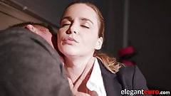 Cum eating Eurobabe deepthroats and gets fucked