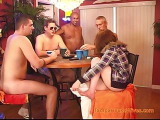 Naked joke weekly The weekly interracial gangbang of a horny housewife