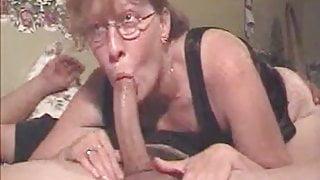Glasses milf deepthroat creampie