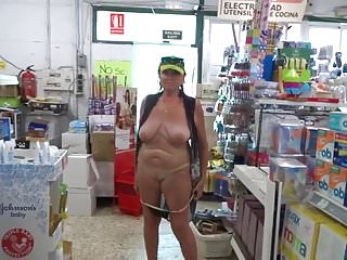 Old bitch tits Old bitch shows pussy in store