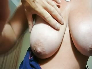 Hand job hannah - Wifes gives hand job whist having her big tits fondled