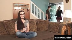 Big Breasted Milf Charlee Chase & Hubby Do BabySitter 3Some!