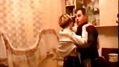 Russian booze in the kitchen turns into sex