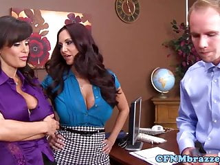 Ava addams sucking cock Femdom ava addams punishes cock with bff