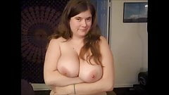 BBW Slut shows off huge tits and spread pussy for internet