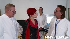 Redhead Sunny Sin gets treated by big dicks