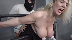 Milf with big tits gets milked and fucked