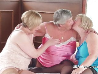 Older man eats pussy Older mature grandma foursome with a one man