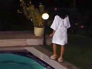 Fucking in water - Beautiful girl fucked by many guys at water