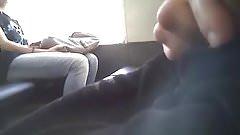 Woman watch dick flash in train