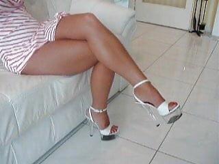 Ex-girlfriends nude One of my ex girlfriends feet, higheels and legs 03