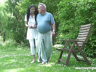 Retired porn Old man retires in hot pussy