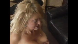 Petite blonde Spanish MILF babe has anal sex