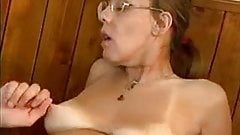 Worried-Looking Granny Takes It In The Ass