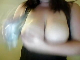 Flash her tits Busty brunette flash her tits