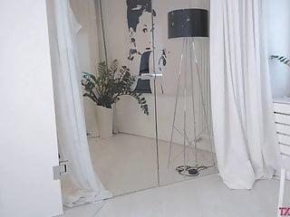 Lingerie studios Slutty asian sexy dances and undress in studio p8