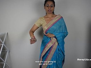 Tamil escorts - South indian mom lets son jerk off then fuck her tamil